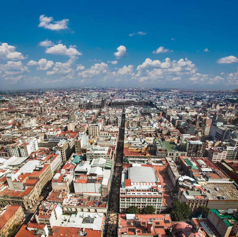 Aerial view of Mexico City, Mexico. stock image
