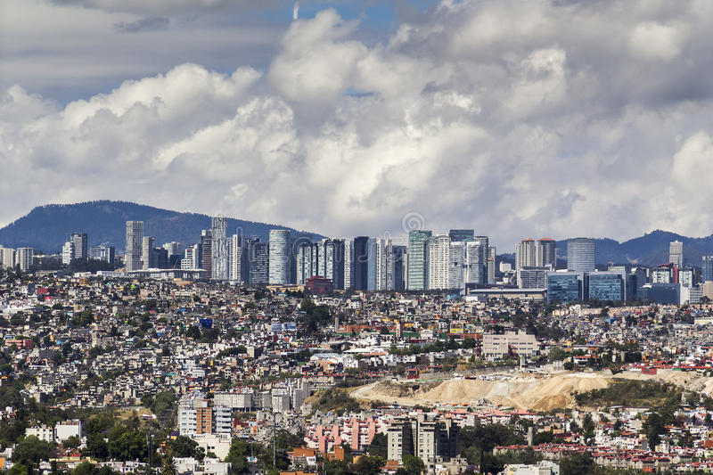 Stock Photo Aerial View Mexico City Santa Fe District Skyline Commercial University Financial Residential Modern East Image79086292 on Modern Architecture Mexico