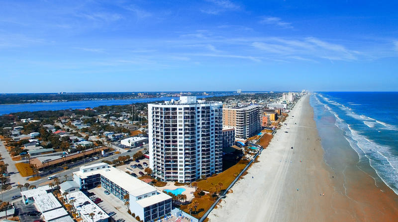 Aerial view of Miami Beach royalty free stock photography