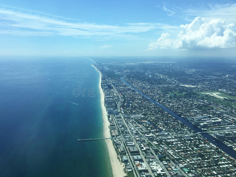 Aerial view of Miami Hollywood, Florida, USA stock image