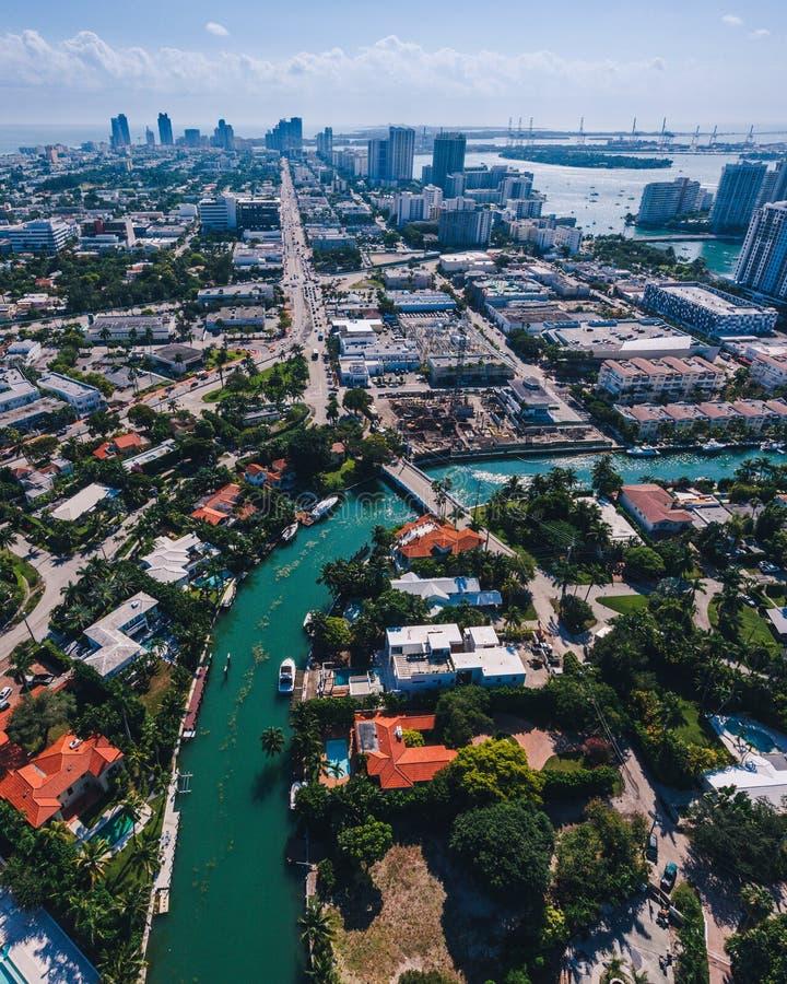 Miami River, Florida Stock Image. Image Of Dade, Highrise