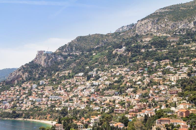 Aerial view of Monaco royalty free stock photo