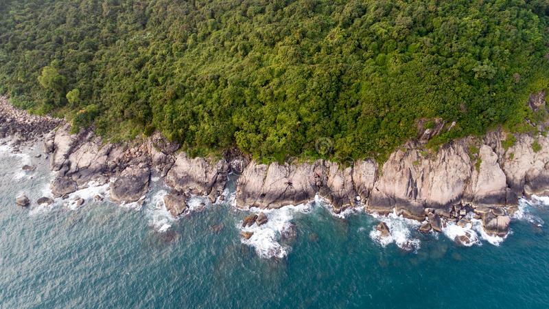 Monkey island in Vietnam. An aerial view at the Monkey Island in Vietnam stock photography