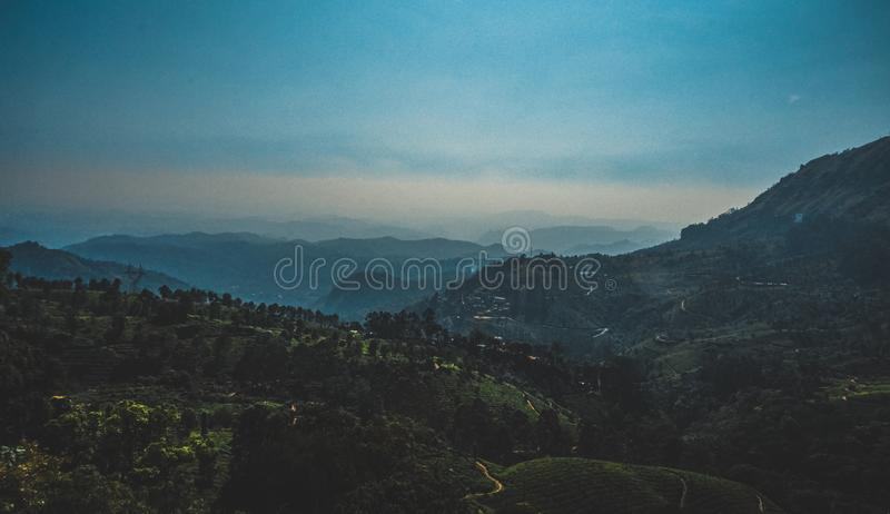 Aerial View of Mountain stock photography