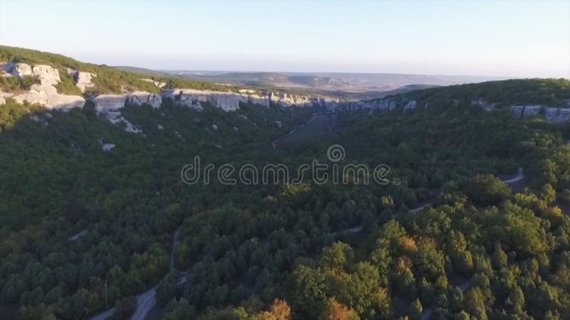 Aerial view on Mountain Landscape with sunset background, somewhere in United States. Shot royalty free stock images