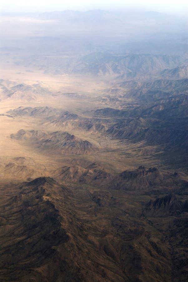 Aerial View Of A Mountain Range Stock Photo