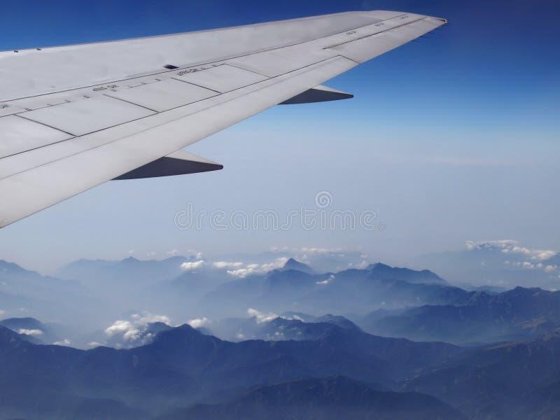 Aerial View of Mountain Range royalty free stock photo