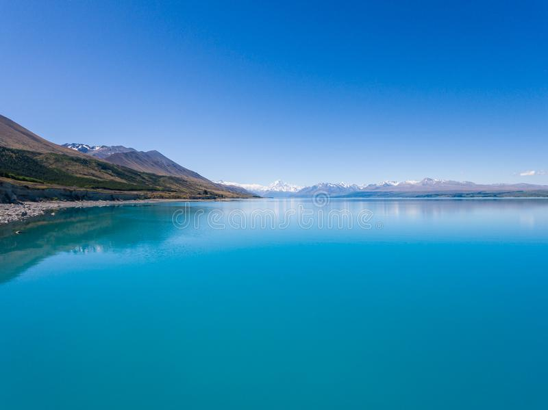 Aerial view of Mt Cook Landscape, New Zealand stock images