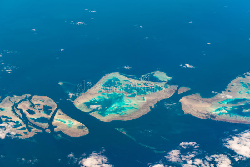 Aerial view of Muirhead Reef. Great Barrier Reef. Australia. Aerial view of Muirhead Reef. Great Barrier Reef. Queensland, Australia royalty free stock photography