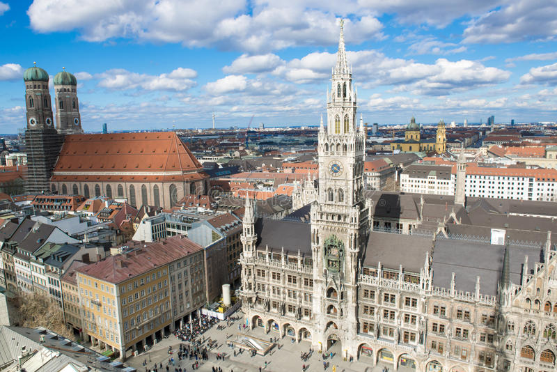 Aerial view Munich stock photography