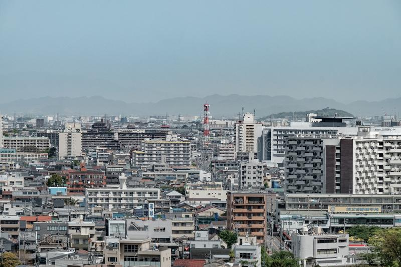Aerial view of Nagoya city, Japan royalty free stock image