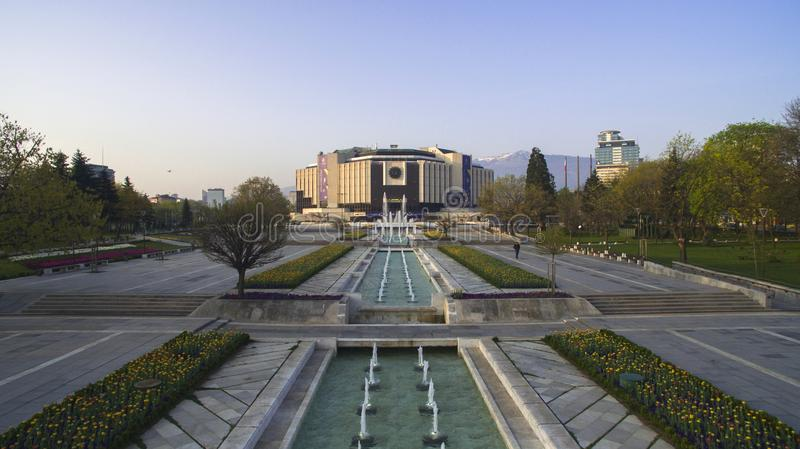 Aerial view of National Palace of Culture NDK, Sofia, Bulgaria stock photography