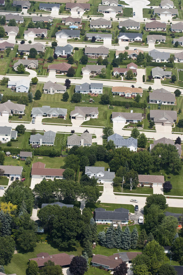 Free Aerial View Neighborhood Houses, Homes, Residences Royalty Free Stock Photos - 15479908
