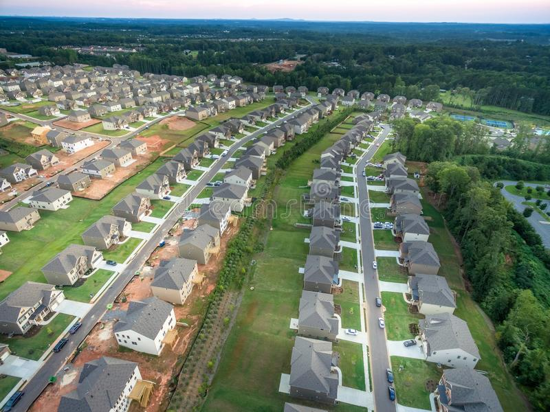 Aerial view of new condo in Southern United States. Shot in 2018 stock images