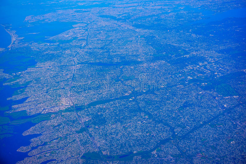 Aerial view of New Jersey. Aerial view of high population density of New Jersey, and New York, USA royalty free stock photo