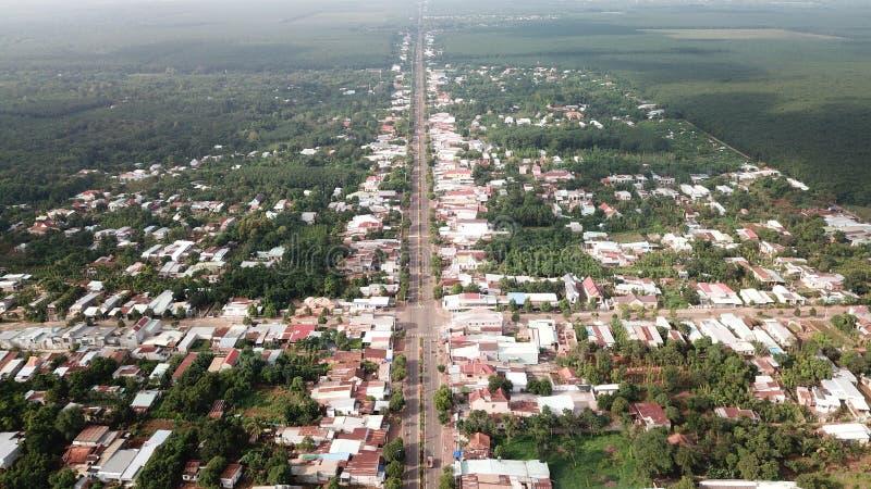 Aerial view of Ngai Giao Town stock photos