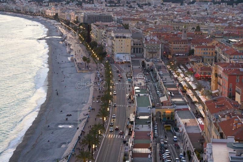 Aerial view of Nice stock photos