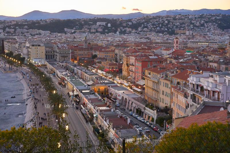 Aerial view of Nice royalty free stock photos