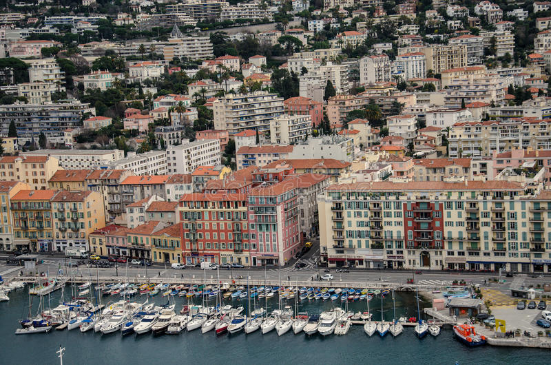 Aerial view of Nice, France royalty free stock images