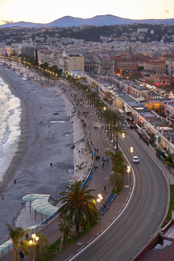 Aerial view of Nice royalty free stock photography