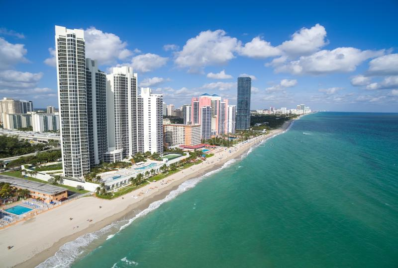 Aerial view of North Miami Beach royalty free stock photo