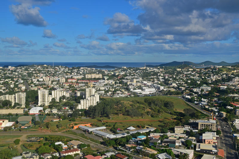 Aerial view of Noumea, New Caledonia royalty free stock image