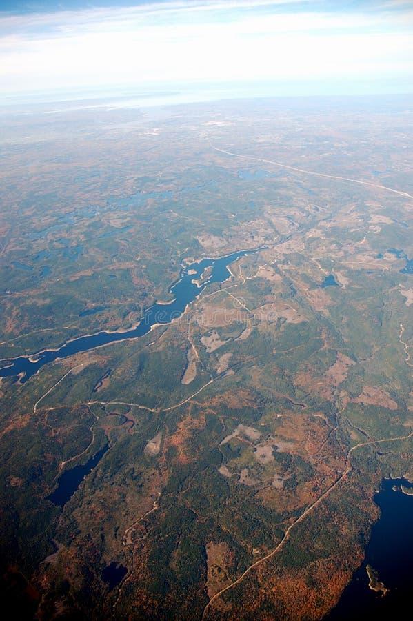 Aerial view of Nova Scotia stock photos