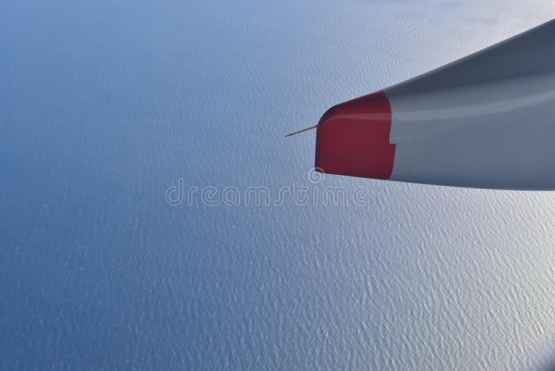 Aerial view of the ocean from an airplane. Travel from América to Asia stock photo