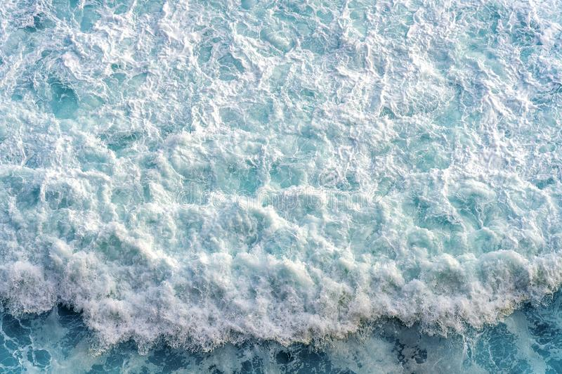Aerial view of the ocean wave.  royalty free stock images