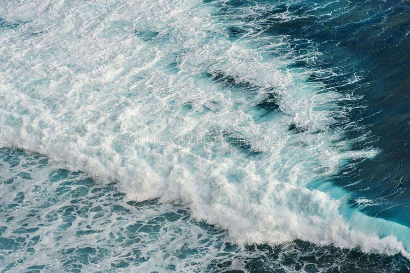 Aerial view of the ocean wave.  stock image