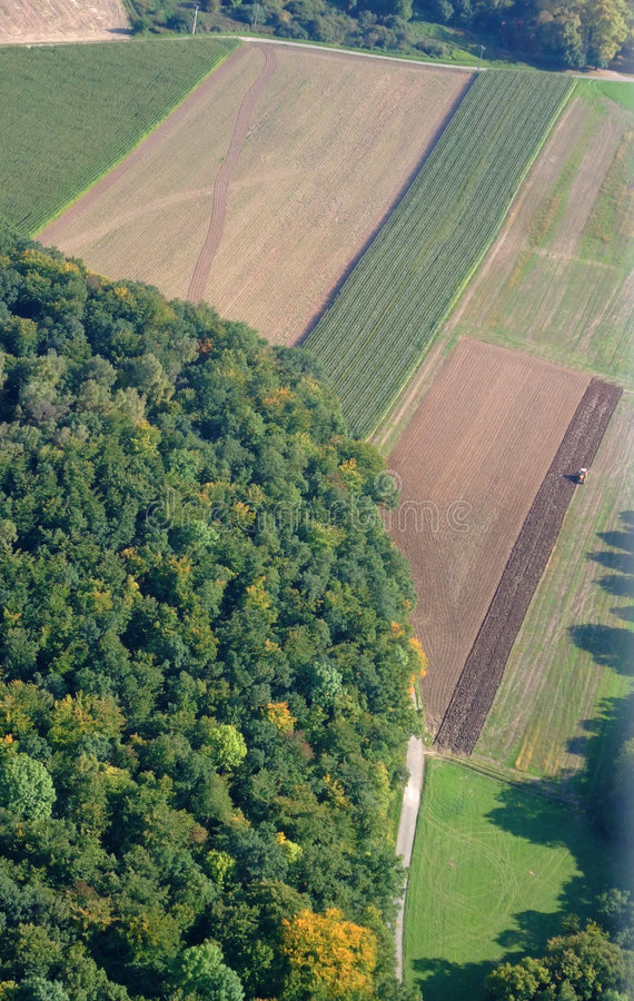 Free Aerial View Of A German Forest And Meadows Stock Image - 7619801