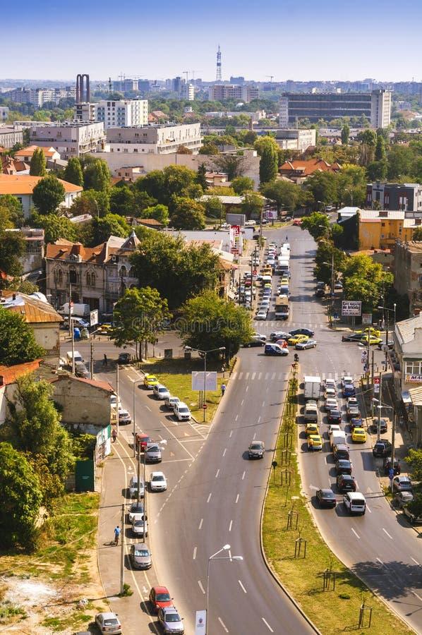 Free Aerial View Of A Small Portion Of Rahova Neighborhood. Tudor Vladimirescu Boulevard Stock Image - 121580721