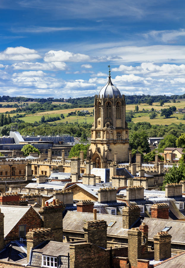 Free Aerial View Of Roofs And Spires Of Oxford Royalty Free Stock Photography - 37383097