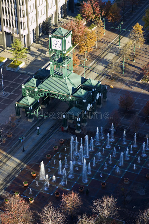 Free Aerial View Of The Tram Station Stock Image - 19457471