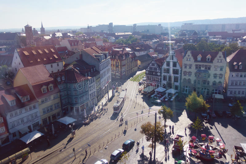 Aerial View Of The Historic City Of Wurzburg Editorial