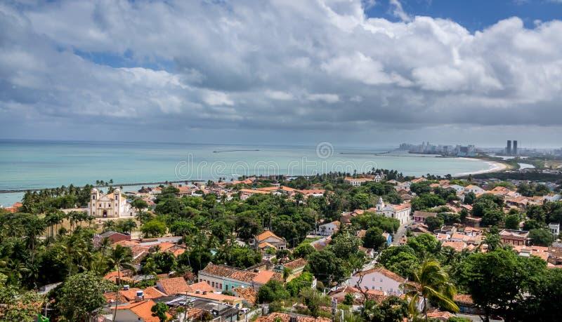 Aerial view of Olinda and Recife - Pernambuco, Brazil stock image