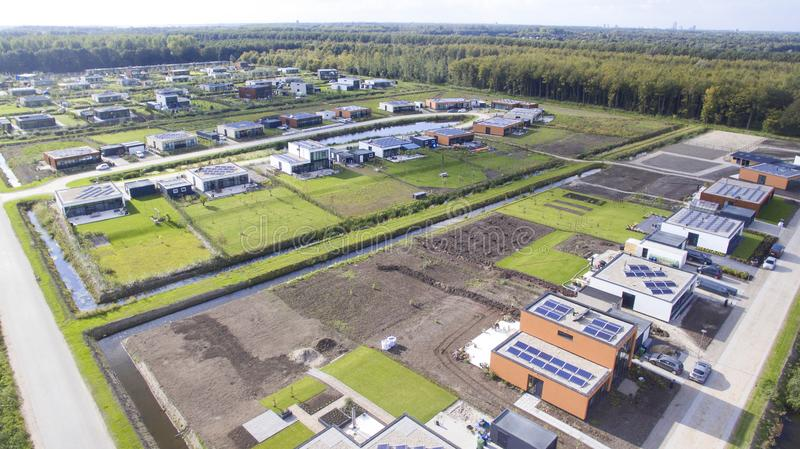 Aerial view on Oosterwold in Almere. stock photography