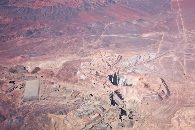 Download Aerial View Of Open-pit Copper Mine In Atacama Stock Photo - Image: 16214128
