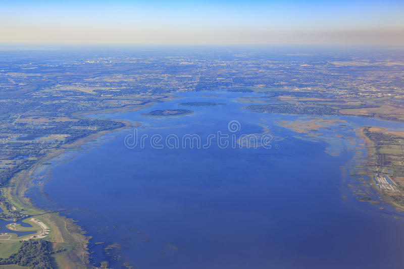 Aerial view of Orlando royalty free stock photo