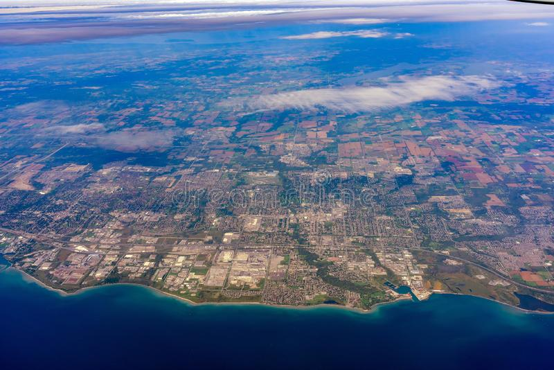 Aerial view of the Oshawa area cityscape. At Canada stock images