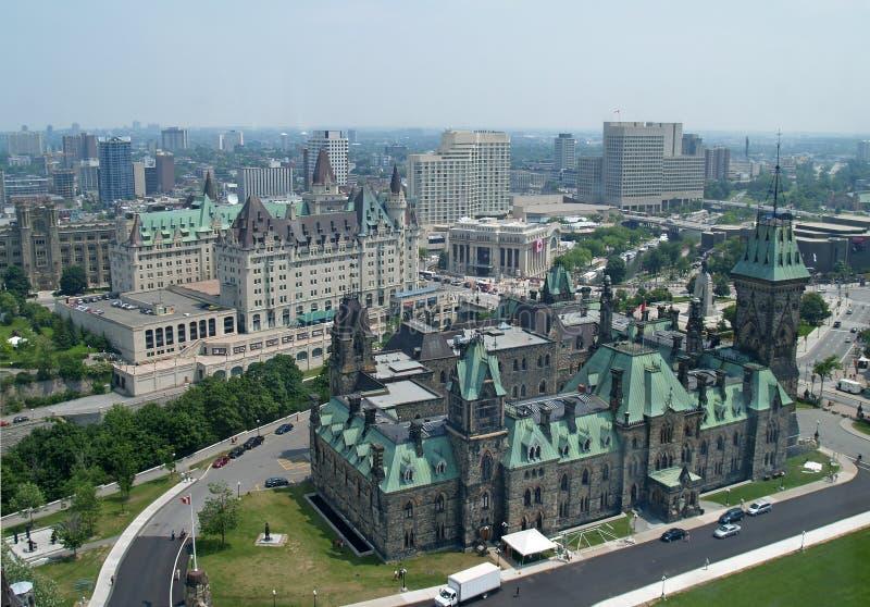 Aerial View of Ottawa stock photo