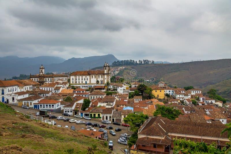 Aerial view of Ouro Preto City - Minas Gerais, Brazil. Aerial view of Ouro Preto City in Minas Gerais, Brazil stock photos