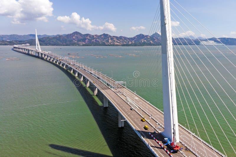 The Bridge Houhai Bay To Hong Kong Island royalty free stock images