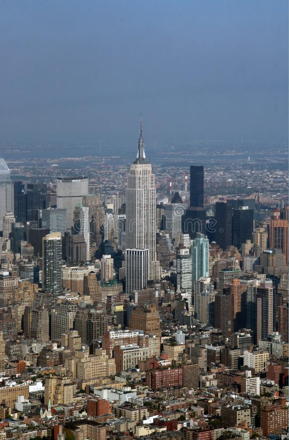 Aerial view over Manhattan, New York City, NY, USA stock images