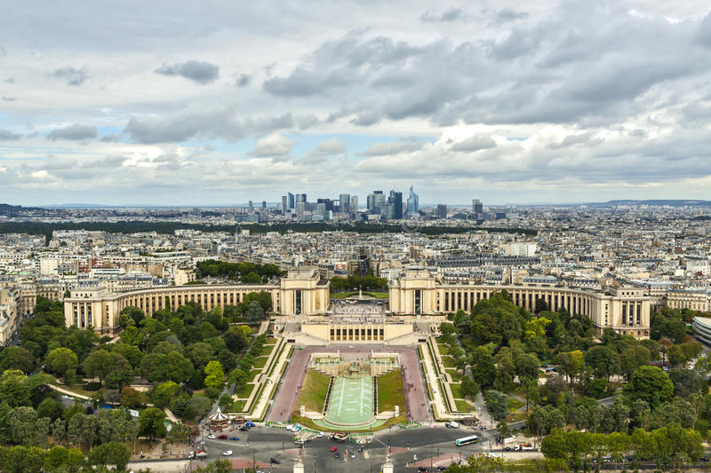 Aerial view over Paris royalty free stock images