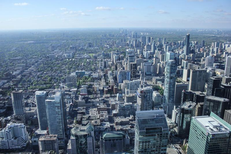 Aerial View Over Skyline Of Toronto, Canada Free Public Domain Cc0 Image