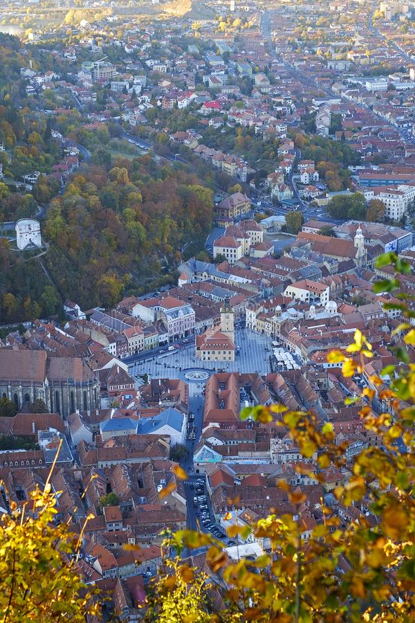 Aerial View Panorama of Brasov City Center 4 royalty free stock images