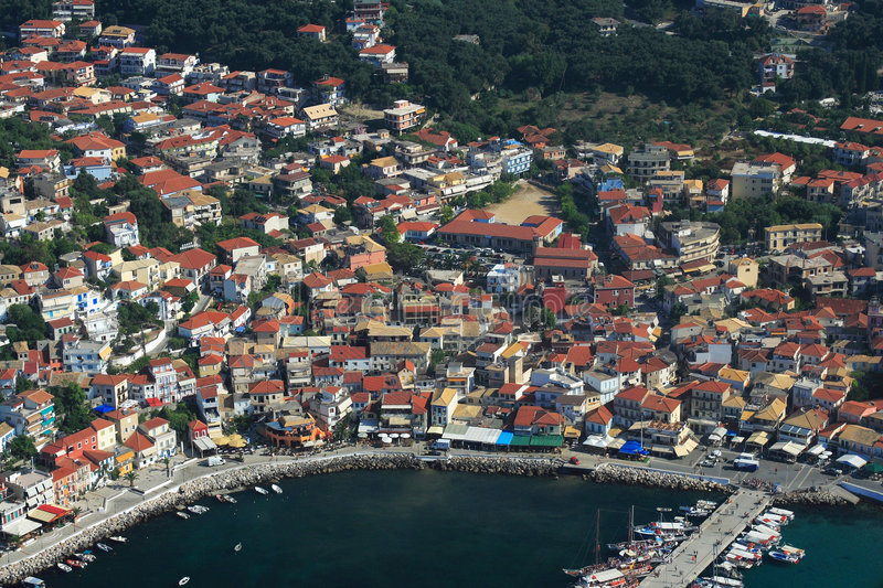 Download Aerial View On Parga Greece Stock Image - Image: 8253203