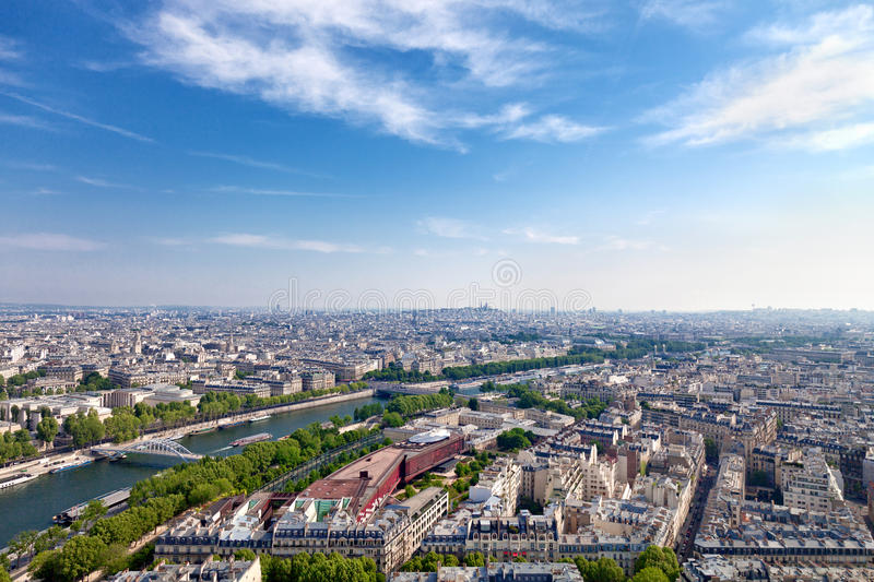 Download Aerial view of Paris stock photo. Image of famous, holiday - 23350008