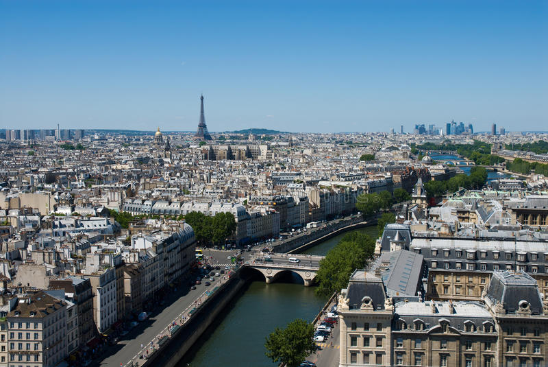 Download Aerial view of the Paris. stock image. Image of overlook - 23529087